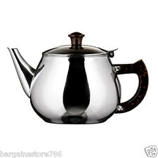 Teapot Classic Catering Metal Stainless Steel Cup Tea Pot 0.8 Litre