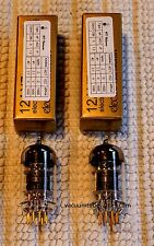 Electro-Harmonix Amplitrex Matched Gold Pair Two New 12Ax7 12Ax7Eh Gold Tubes