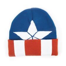 Capitán América: logotipo con el escudo de guerra civil Tapa De Punto Patrón esposado Beanie