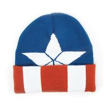 Captain America: Civil War Knitted Cap Shield Logo Pattern Cuffed Beanie