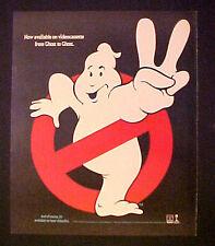 1989 Ghostbusters Movie~Cartoon Ghost Print AD