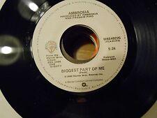 "Ambosia 45 RPM VINYL RECORD""Biggest Part of Me"" & ""Livin' on My Own""1980 Warner"