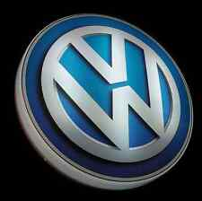 VW LARGE LED 2FT ILLUMINATED GARAGE WALL LIGHT SIGN PICTURE VEEDUB GTI R32 MK1