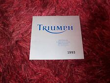 Catalogue / Brochure TRIUMPH Gamme / Full line 1993 //
