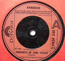 "VANGELIS - Chariots Of Fire - Excellent Condition 7"" Single Polydor POSP 246"