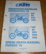 Teilekatalog KTM 250 SX, EXC, EGS / 300 SX, EXC, MXC, EGS - Stand 1993!