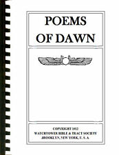 Copy of 1912 POEMS OF DAWN IBSA Watchtower Bible and Tract Society Millennial