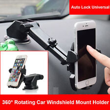 Universal Windshield Mount Car Holder Cradle f iPhone 7 Plus Samsung Note 8 S8