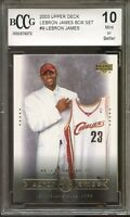 2003 Upper Deck #9 LeBron James Rookie Card BGS BCCG 10 Mint+