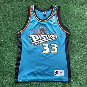 Vintage 90s Grant Hill Detroit Pistons Champion Jersey 44 #33