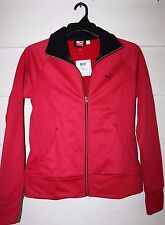 Puma Poly Fleece Jacket Size M Cerise Pink