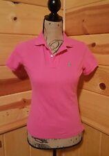 Ralph Lauren Womens Pink Short Sleeve Skinny Polo Shirt Top Size Small I