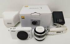Nikon 1 J2 10.1MP White Digital Camera & Nikkor 10-30mm Lens, Cover, Strap & Box