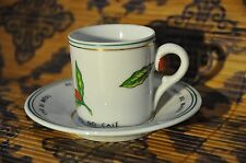 "Coffee DEMITASSE Cup and Saucer ""IBC""  instituto Brasileiro do cafe SCHMIDT"
