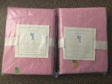 Set Of 2 NWT Pottery Barn Kids Oxford Embroidered Pineapple Pillow Shams Pair