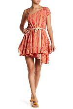 1258fdffb16c Free People Women's Orange Asymmetrical Shoulder Print Dress Size Small RS