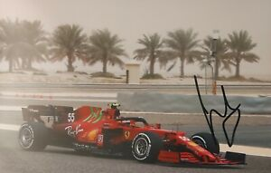 CARLOS SAINZ JR Ferrari F1 2021 Foto 20x30 signiert IN PERSON Autogramm signed 3