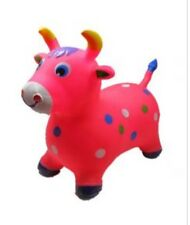 Pink BULL Hopper Ride On Bouncing inflatable BOUNCE ALONG Bouncy ride-on Jumping