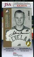 Johnny Bower JSA Coa Hand Signed 2005 In The Game Autograph