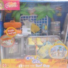 BARBIE Cali Girl HANG TEN Surf Shop + CALI GIRL Barbie + Cali Girl Surfer Ken