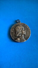 Vintage Médaille Pendentif Jeanne d'Arc / St Joan of Arc Medal