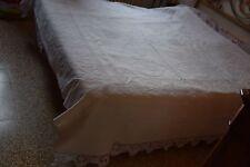 Copriletto piquet di cotone con bordo uncinetto Bedcover cm. 212+14+14x190 (4)
