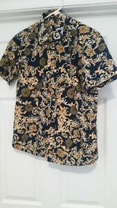 Mens Medusa Gold/Navy Baroque Shirt