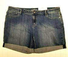 NWT Liz Claiborne Womens Size 16 City Denim Jean Stretch Shorts NEW MSRP $36