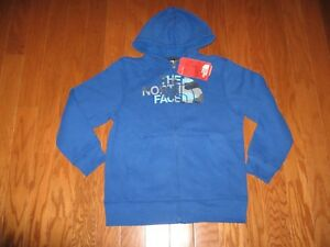 The North Face Zip-up Sweatshirt HOODIE Jacket Boys Size S / M  NWT