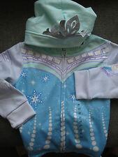 Official Disney Girls Frozen Hoodie Top Elsa SNOWFLAKE FLEECE LINED AGE 4 BNWT