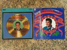 LOT OF 2 ELVIS PRESLEY LP'S, GOLDEN RECORDS VOL.3 & ELVIS CHRISTMAS ALBUM, LP'S.