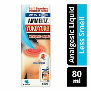 New Ammeltz Yoko Yoko Liquid 80ml (Less Smell)  for Muscular Pain Relief