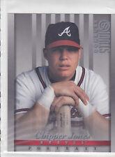 1997 Donruss Studio Jumbo #8 Chipper Jones Atlanta Braves  Baseball Card