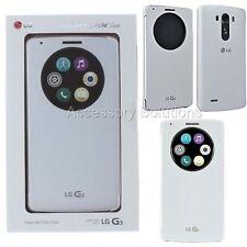 LG G3 Quick Circle Window Folio Case Cover White, New Genuine