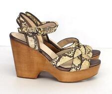 NEW Coach Nikkie Snakeskin Print Wedge Platform SandalS - 9.5