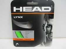 **NEW** LOT OF 2 SETS HEAD LYNX 17 (1.25) GREEN POLY TENNIS STRING