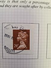 Machins 1993  24p Forgery  used on piece single Franking Scarce  clear date.T90