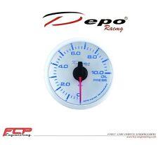DEPO RACING BLAU / WEISS DIGITAL ÖLDRUCK ANZEIGE / OIL PRESSURE GAUGE WBL5227W
