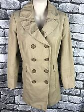 Per Una UK Large 8 double breasted Neutral 100% cotton spring jacket
