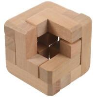 3D Enchevêtrement De Verrouillage En Bois Logic Puzzle Puzzle Burr Casse-Tê N7U6