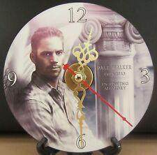 Brand New In Loving Memory Paul Walker CD Clock W/Color  Nice!!