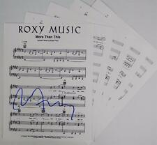 "Bryan Ferry ROXY MUSIC Signed Autograph ""More Than This"" Sheet Music"