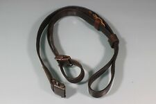 Post WW2 German Bund K98 Leather Rifle Sling Collection of Parts Unmarked S11