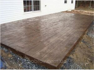 "Concrete Stamp Stone Decorative Polyurethane""Board"" for the floor and tracks"
