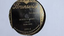 Frank Munn - 78rpm single 10-inch – Brunswick #2821 Memory Garden