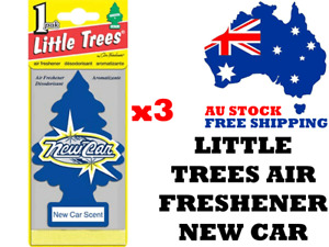 Little Trees Air Freshener New Car x 3 (3 Pack) - Car Truck Taxi Home Office