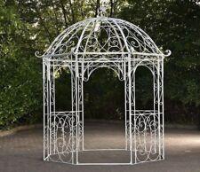 Pavillon Eisen Rankhilfe Pergola Rosenbogen Rankgitter Gartenpavillon Antik Weiß