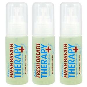 12 Aloe Dent Fresh Breath Freshener Spray 30ml Breath Therapy Alcohol Free new