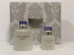 DOLCE & GABBANA LIGHT BLUE MEN COLOGNE GIFT SET SPRAY 4.2 oz + 1.3 oz NEW IN BOX