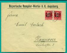 1920 FIRMENBRIEF BAYERISCHE RUMPLER WERKE AG AUGSBURG - HANNOVER